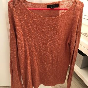 Orange/peach light weight sweater